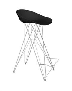Барный стул SHT ST19 S66 черный хром лак Sheffilton