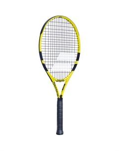 Ракетка для большого тенниса Nadal 26 Gr0 арт 140250 для 9 10 лет алюминий со струнами черно желт Babolat