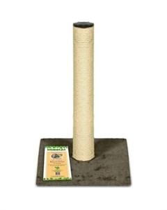 Когтеточка столбик ковролин джут коричневая для кошек 295х295х500 Homecat