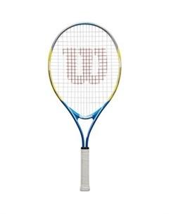 Ракетка для большого тенниса US OPEN 25 WRT20330U для 9 10 лет желто сине черный Wilson