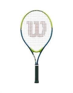 Ракетка для большого тенниса SLAM 25 WRT20400U для 7 8 лет салатово синяя Wilson