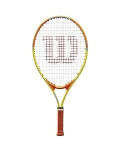 Ракетка для большого тенниса SLAM 23 WRT20390U для 7 8 лет желто оранжевая Wilson
