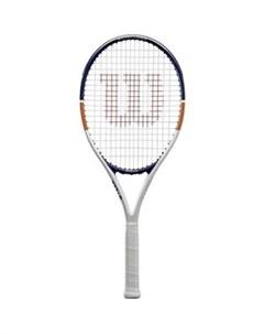 Ракетка для большого тенниса Roland Garros Elite 21 арт WR029610H для 5 6 лет алюминий со струн бел  Wilson