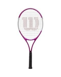 Ракетка для большого тенниса Ultra Pink21 GR00000 арт WR028010U для 5 6 лет алюминий со струнами роз Wilson