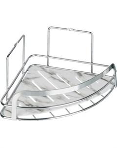 Полка Marble для ванной комнаты угловая одинарная Fora