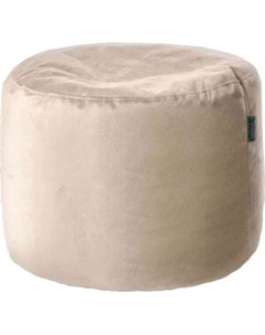 Пуфик бескаркасный Цилиндр латте мебельная ткань pkv 423 Mypuff