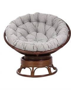 Кресло качалка MI 004 Papasun swivel rocker с подушкой коньяк Мебель импэкс