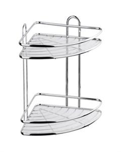 Полка Floria для ванной комнаты и кухни угловая двойная 258 258 335 см Fora