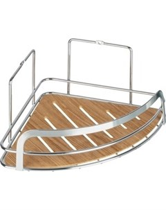 Полка Wood для ванной комнаты угловая одинарная Fora