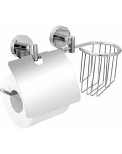 Держатель для туалетной бумаги Long с полкой для освежителя воздуха с двумя крепежами Fora