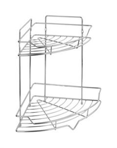 Полка Corsa для ванной комнаты и кухни угловая двойная Сектор 35 26 26 см Fora
