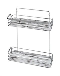 Полка Marble для ванной комнаты двойная Fora