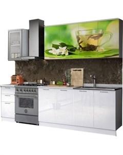 Кухня Чай мята 2 0 м с фотопечатью МДФ Миф