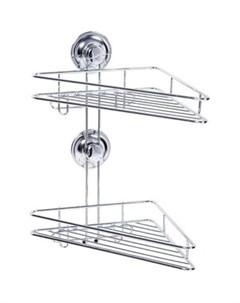Полка RING LOCK для ванной угловая 2 х ярусная 17207 Tatkraft