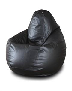 Кресло мешок Груша Бмэ5 черный Пазитифчик