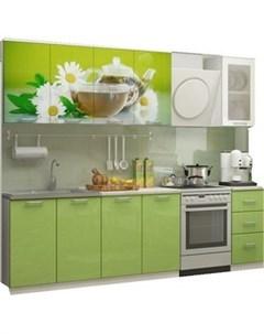 Кухня Ванильный чай 2 0 м с фотопечатью МДФ Миф
