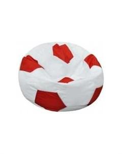 Кресло мешок Мяч Бмо6 бело красный Пазитифчик