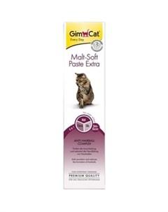 Витамины Gimcat Malt Soft Paste Extra Anti Hairball Extra Fibre паста для вывода шерсти из желудка д Gimborn
