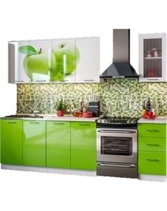 Кухня ПВХ с фотопечатью Яблоко 2 0 Миф