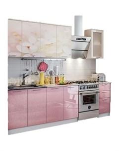 Кухня ПВХ с фотопечатью Вишневый цвет 2 0 Миф