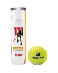 Мяч для большого тенниса Tour Practice WRT114500 4 мяча Wilson