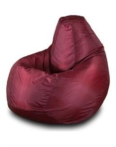 Кресло мешок Груша Бмо5 бордовый Пазитифчик