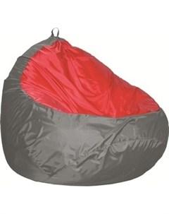 Пуф Груша 2 оксфорд серый оксфорд красный Комфорт - s