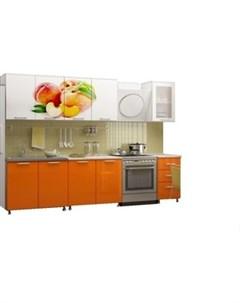 Кухня Персик 2 0 м с фотопечатью МДФ Миф