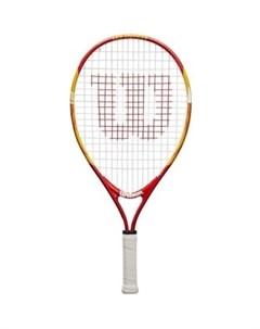 Ракетка для большого тенниса US OPEN 21 WRT20310U для 5 6 лет оранжево красный Wilson