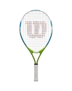 Ракетка для большого тенниса US OPEN 23 WRT20320U для 7 8 лет бело сине зеленый Wilson