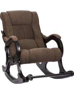 Кресло качалка МИ Модель 77 венге обивка Verona Brown Мебель импэкс