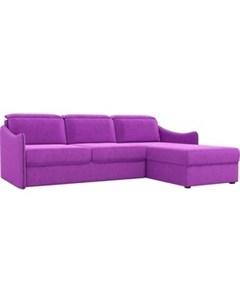 Диван угловой Скарлетт вельвет фиолетовый правый угол Артмебель