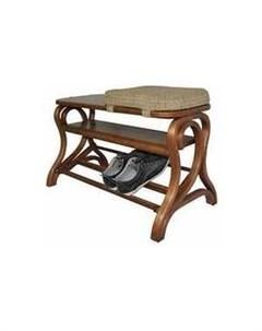 Обувница Диана средне коричневый Мебелик
