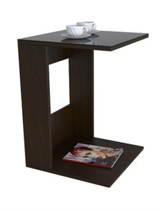 Стол журнальный BeautyStyle 3 венге стекло черное Мебелик