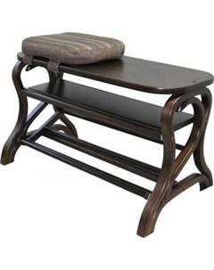 Обувница Диана темно коричневый Мебелик