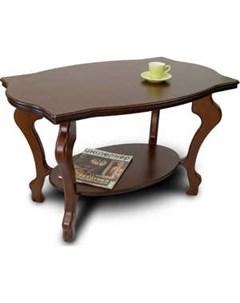 Стол журнальный Берже 1 тёмно коричневый Мебелик