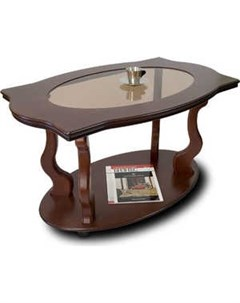 Стол журнальный Берже 3С тёмно коричневый Мебелик