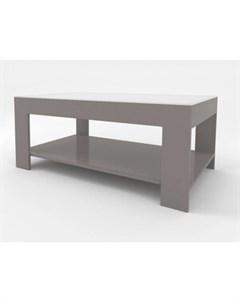 Стол журнальный BeautyStyle 26 графит свелый U732 стекло белое Мебелик