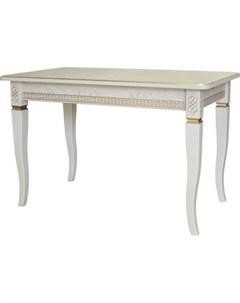 Стол обеденный Фидея 3 слоновая кость золото 120 160x70 Мебелик