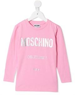 Топ с длинными рукавами и логотипом Moschino kids