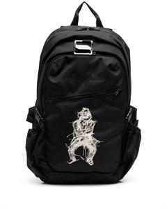 Рюкзак с графичным принтом Yohji yamamoto