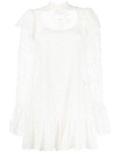 Кружевное платье мини Sara battaglia