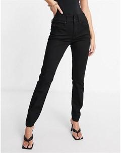 Черные зауженные джинсы с эффектом пуш ап Salsa
