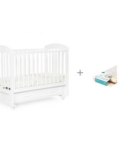 Детская кроватка Regency маятник универсальный с ящиком и Матрас Плитекс EcoLife Bebizaro