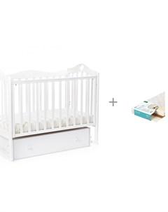 Детская кроватка Jameson Heart маятник универсальный с ящиком и Матрас Плитекс EcoLife Bebizaro