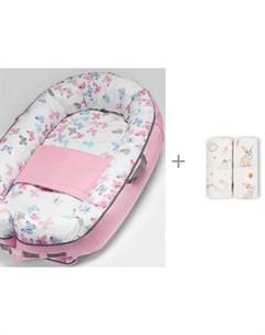 Кокон гнездышко для новорожденных BN 0030 и фланелевые пеленки 113x113 Loombee