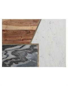 Доска сервировочная Elements из мрамора камня и акации Typhoon