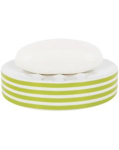 Мыльница Tube Stripes цвет зеленый Spirella