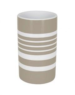 Стакан для зубных щеток Tube Stripes коричневая полоска Spirella