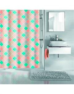 Шторка для ванной Mathilda Multicolor 180x200 см 100 полиэстер Kleine wolke